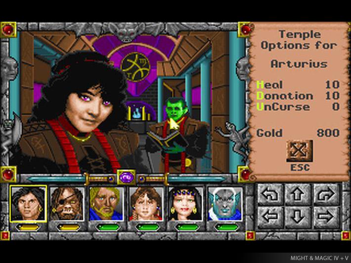 Текущий показываемый скриншот из игры strong em Might and Magic 4: Clouds o